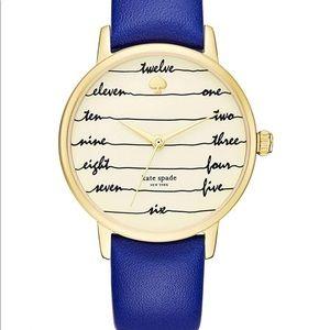 🔥1 hr SALE Kate Spade leather Watch, cobalt blue